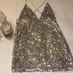 Stretch, Sequin Lycra dress